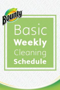 Between the kitchen, bathroom, living room, and bedroom, even a one-bedroom apartment has so much surface to cover that it can be easy to miss even the most obvious spots. But with this chore list for quick weekly cleaning from Bounty Paper Towels, you'll have it under control year-round!