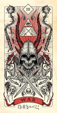 Four Horsemen of Apocalypse Tarot Cards Artwork Released in Higher Quality. – X-Men Films Arte Horror, Horror Art, Les Quatre Cavaliers, Dark Fantasy, Fantasy Art, We All Mad Here, Apocalypse Art, Satanic Art, Arte Obscura