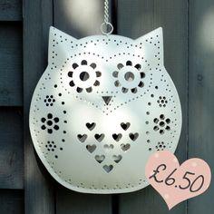owl-shaped tea light holder