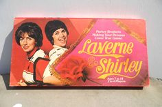 Laverne and Shirley Board Game, Vintage Game, 1970s TV, Vintage Board Game, Retro Graphics, 1970s Sitcom. $12.00, via Etsy.