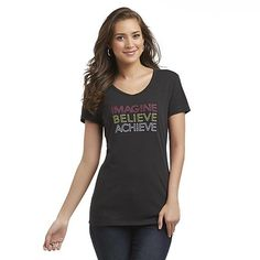 Impact by Jillian Michaels Women's Graphic T-Shirt - Imagine, Believe, Achieve