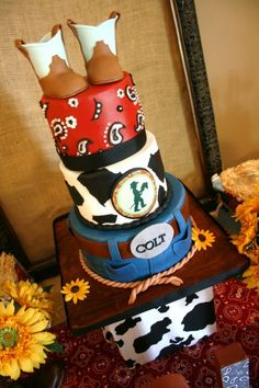 Cowboy Cake, @mona mitchell if I ever have a son would you make this for me please?