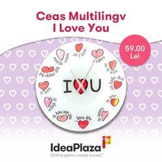 Ceas Multilingv I Love You Love Ya, Cooking Timer