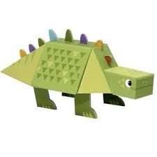 Fold my Dino Stegosaurus, Krooom Creative Art, Wooden Toys, Art For Kids, Toddler Bed, 1, Decor, Products, Paper Balloon, Paper Cups