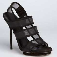 Gucci Bette Sandals. Sz 38. Used Once. Mesh/Suede