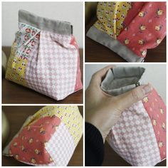 12CM flex frame picture tutorial Fabric Bags, Fabric Scraps, Scrap Fabric Projects, Sewing Projects, Bag Patterns To Sew, Sewing Patterns, Snap Bag, Sew Wallet, Frame Purse