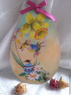 Wood egs Decorative egg romantic easter easter by DecorElegancy