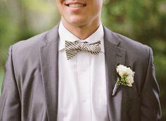 gray green bow tie | Nancy Ray #wedding