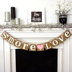 Hey, I found this really awesome Etsy listing at https://www.etsy.com/listing/123857161/smore-love-banner-wedding-reception
