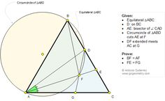 Geometry Problem 1225: Equilateral Triangle, Circumcircle, Angle Bisector, Congruence.
