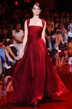 Elie Saab Fall 2013...(flowy gorgeousness, that deep red...wearing this would make you feel invincible...)