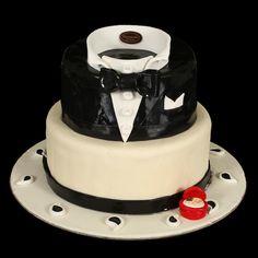 Gâteau d'anniversaire smoking de gourmandise