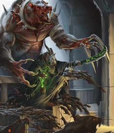 The Skaven of Clan Moulder are expert at breeding and mutating other living beings to create the perfect killing creature. Their Master Moulders create unnatural creatures to sell to other Clans. Some of the more infamous creations of Clan Moulder are the Hell Pit Abomination and the hulking Rat Ogres.