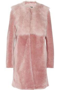 DKNY Shearling coat   NET-A-PORTER