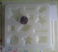 Resin Mold STARS and GEOMETRICS Jewelry Pendant Cabochon by wibweb, $5.00