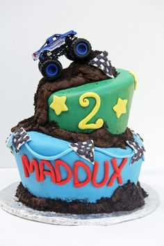 Brilliant Image of Monster Truck Birthday Cake . Monster Truck Birthday Cake Monster Truck Cake My First Wonky Cake Monster Jam Cake, Monster Truck Birthday Cake, Birthday Cake Pictures, Birthday Ideas, 2nd Birthday, Happy Birthday, Truck Cakes, Themed Birthday Cakes, Cakes For Boys