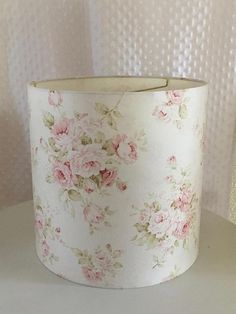 Shabby Cottage Chic Floral Drum Lampshade-Pink Floral Lamp Shade-Vintage floral lampshade -Custom Made-To-Order-Home Decor-Shabby Chic Decor Shabby Chic Lamp Shades, Modern Lamp Shades, Shabby Chic Cottage, Shabby Chic Decor, Cottage Style, Cool Ideas, Chandeliers, Floral Lampshade, Hacks