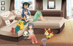 lily by didimoons on DeviantArt Pokemon People, Pokemon Ships, Ash And Dawn, Pokemon Comics, Anime Ships, Furry Art, Pikachu, Family Guy, Lily