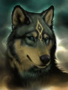 Kind of reminds me of Legend of Zelda: Twilight Princess,Link's wolf form. - The wolf that kills Anime Wolf, Wolf Spirit, My Spirit Animal, Wolf Tattoos, Beautiful Wolves, Animals Beautiful, Fantasy Creatures, Mythical Creatures, Wolf Craft