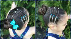 Peinado para niñas con ligas y chongos | facil para cabello corto  FT. ...
