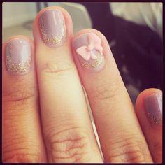 Mani-Fique Nails- Bows!