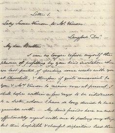 Lady Susan, Letter 1, MS in Jane Austen's handwriting