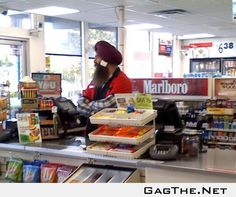 While I was at my local 7/11, this guy was just talking away on his cell...