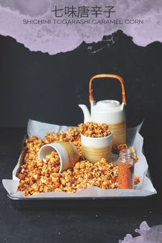 """Made By Mail"" returns and Australian culinary corespondent, Sarah Coates wows us with a unique Shichimi Togarashi Caramel Corn recipe! Add parmesan"