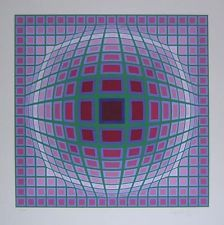 Victor Vasarely Original Silkscreen S/N
