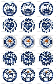 Colts (C1) Bottle Cap Images 4x6 Bottlecap Collage Scrapbooking Jewelry Hairbow Center. $2.00, via Etsy.