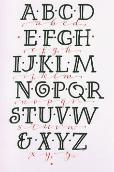 ~ Alphabet Lettering Calligraphy ~ by Chris Foster Hand Lettering Alphabet, Doodle Lettering, Creative Lettering, Lettering Styles, Calligraphy Letters, Typography Letters, Alphabet Fonts, Easy Calligraphy Fonts, Simple Lettering