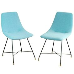 "Pair of ""Aster"" Dinner Chairs by Augusto Bozzi for Saporiti"