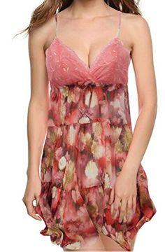 TWING Woman Sleepwear Extra Amazing Sexy Cloth With Special Rainbow Flower  1211 Pattern MEDIUM Moonlight   ad3f2ae70
