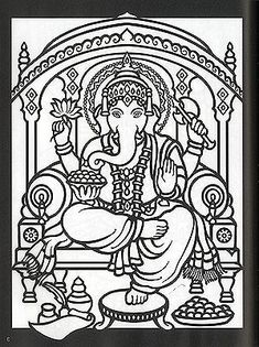 hindu gods and goddesses stained glass coloring book by marty noble - Coloring In Book