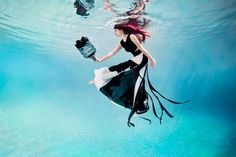 Surreal Submerged Fashion Ads  The Wonderland Couture by Feline Blush Campaign is Magical