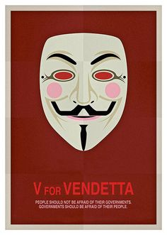 V for Vendetta Movie Poster, available at 45x32cm.This poster is printed on matt coated 350 gram paper.