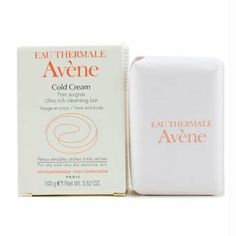 Avene Cold Cream Ultra-Rich Soap-Free Cleansing Bar 3.52 oz. by Avene. $9.00. Extremely gentle. Suitable for use on infants. Leaves skin calm and soft. Ideal for all skin types. Cleanses without soap. This soothing and refreshing bar features a soap-free formula that cleanses and purifies the skin without irritation. Cold cream formula and Avne Thermal Spring Water instantly comfort dry, stressed and sensitive skin while enhancing suppleness, radiance and softnes...