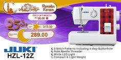Juki HZL-12Z #ramadan #kareem #discount #sale #sewing #machine #juki #stitch #fashion #online #mall
