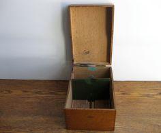 Vintage Globe Wernicke Wooden File Box by TheJoeKnoxCompany, $34.00