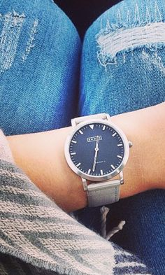Whitstable watch with classic grey strap