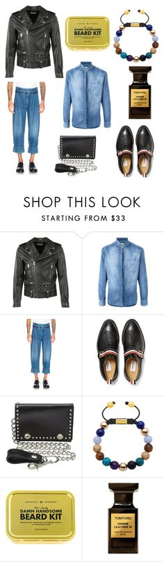 """""""6"""" by joshua-little on Polyvore featuring Yves Saint Laurent, Brunello Cucinelli, J.W. Anderson, Thom Browne, M&F Western, Tom Ford, men's fashion and menswear"""