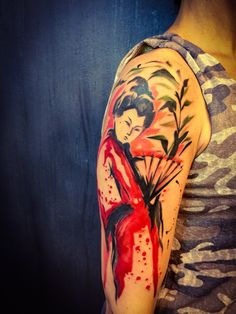 Geisha #watercolortattoo