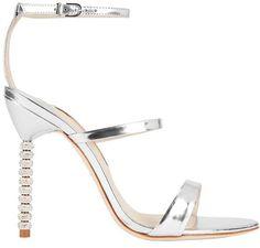 Sophia Webster Rosalind Triple Strap Crystal Heel Sandal: Silver