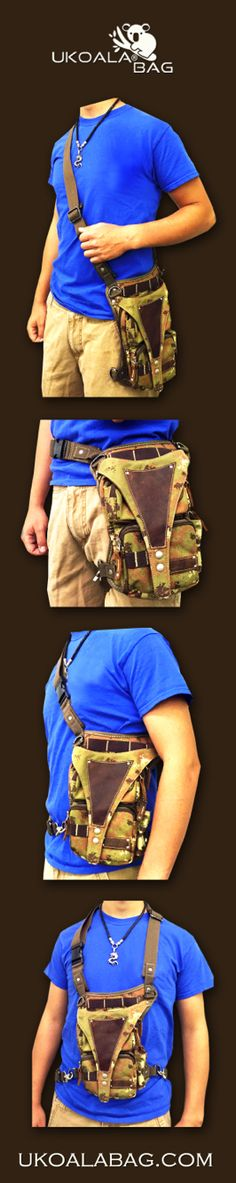 Practical ways to wear U Koala Bag for your hunting, fishing. Outdoorsy U Koala Bag is great for prepping as well.