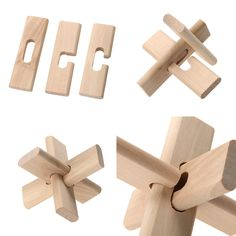 Chinese Traditional Wooden Puzzle Lock Toy for Adult Children Intelligent Luban Kongming Lock Fun Puzzle Toy