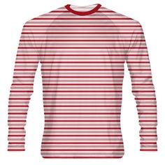 7dd8b536f0 LightningWear Red Candy Cane Long Sleeve Shirt