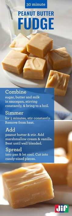 Our simple and delicious Peanut Butter Fudge recipe is a quick dessert you can make under 30 mins. It's great to serve with your favorite chocolate fudge or it can be enjoyed on its own at parties or as a gift for visiting guests. Either way, this creamy fudge is salty, sweet and a chewy dessert that's sure to please any guest.