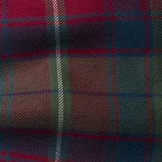 The STUART Collection of Upholstery Weight Tartan Fabric - Curtain Fabric - Upholstery Fabric - Furnishing Fabric