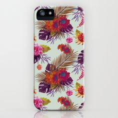 TROPICAL FLORAL PASSION iPhone & iPod Case by Nika  - $35.00