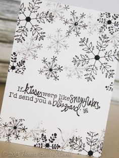 Pretty & simple DIY christmas card. So cute! — Houses Built of Cards: Black and White Blizzard